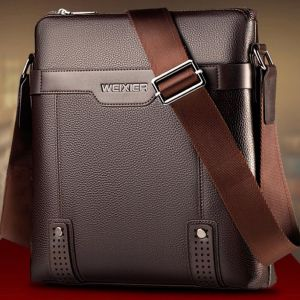 Mature Business Men's Fashion Small Square Crossbody Shoulder Bag