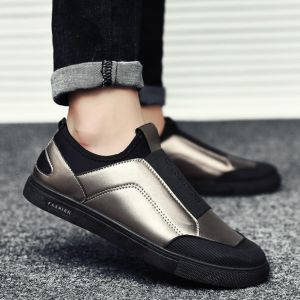 Two-tones Color Hipster Men's Fashion Breathable Light Comfy Slip-on Sneaker