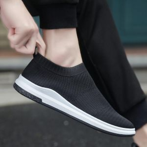 Hipster Cool Men's Fashion Breathable Fly Knit Comfy Light Slip-on Sport Shoes