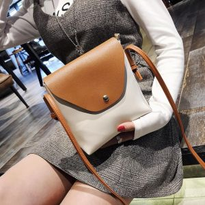 Color Block Pattern Designs Simple Casual Small Square Ladies Sling Bag