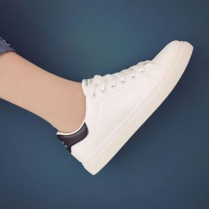 Korean Ladies Fashion Simple Casual Classic White Color Student School Covered Shoes
