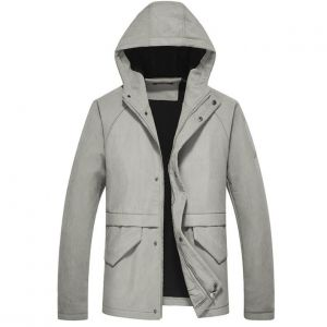 Cool Hipster Men's Thick Inner Woolen Pattern Designs Hooded Long Jacket