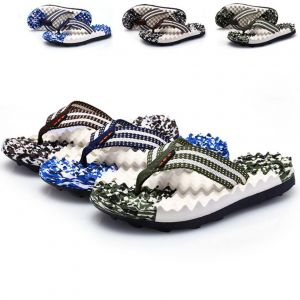 Colorful Camouflage Pattern Massage Function Designs Men's Beach Clip-toes Slipper