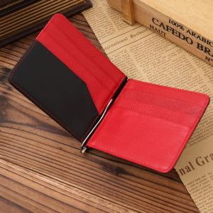 Ultra Thin Light Color Merged Multi Cardholders Designs Money Clip Wallet