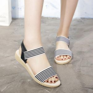 Women's Open-Toed Simple Comfortable Beach Flat Shoes