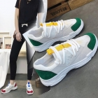 Korean Women's White Casual Shoes Breathable Running Sports Shoes