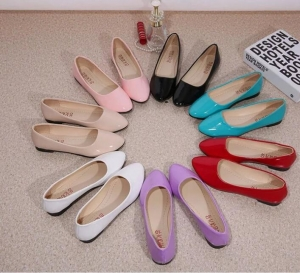 Korean Women's Fashion Candy Solid Color Flat Shoes