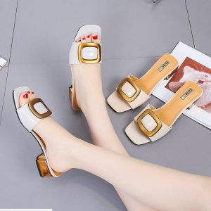 Korean Women's Fashion Personality Thick Heel Buckle Sandals