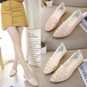 Women's Hollow Design Non-Slip Flat Pointed Shoes