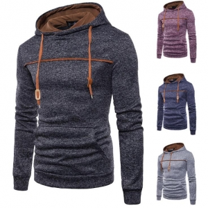 Men's Sports Casual Jacquard Sweater Cardigan Hooded Jacket