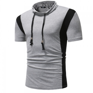 Men's Fashion T Personality Color Matching Collar Short-Sleeved T-Shirt