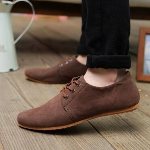 Europe Men's Casual Breathable Lace Leather Shoes