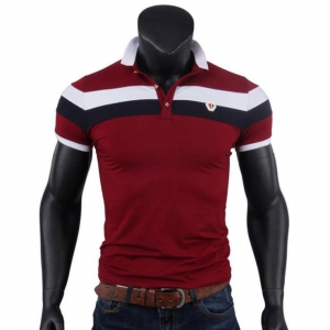 Men's Casual Colorblocked Short-Sleeve Slim Fit POLO Shirt
