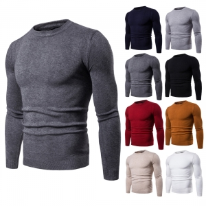 Men's Round Neck Long Sleeve Knit Bottoming Sweater