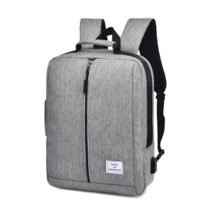 Men's Fashion Multi-Function Casual Simple USB Jack College Computer Backpack