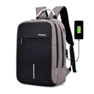 Unisex's Fashion Casual Multi-Function Headphone Hole Design Breathable Computer Backpack