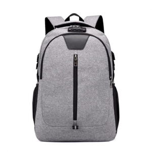 Unisex's Solid Color Fashion Casual Shoulder Anti-Theft Laptop Business Backpack
