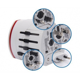 Universal Travel Adapter USB Plug With Universal Con...