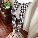 Korean Ladies Thin Graffiti Long Leggings Pants Trou...