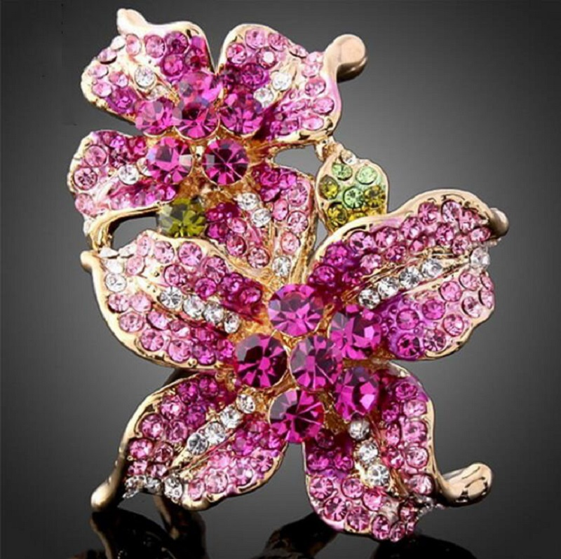 Alloy Diamond Flower Ring