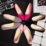 Sweet Ladies Plain Color Designed Simple Casual Pointed Flat Shoes