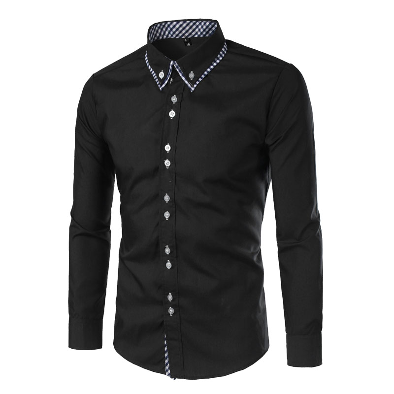 Classic Grid Pattern Layer Collar Designs Double But...