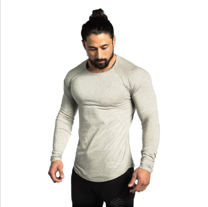 Muscle Brothers Men Sports Leisure Fitness Long Slee...