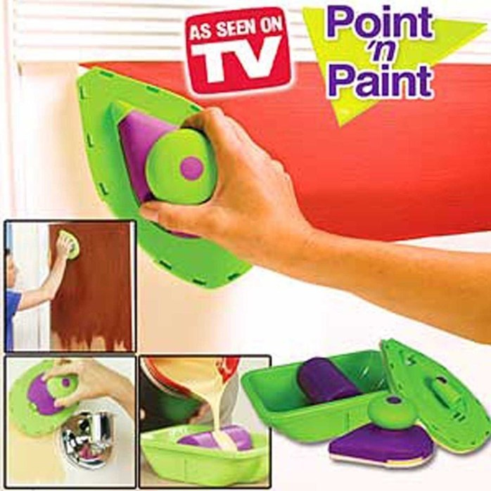 Point N Paint Roller and Tray Set Wall Painting Brus...