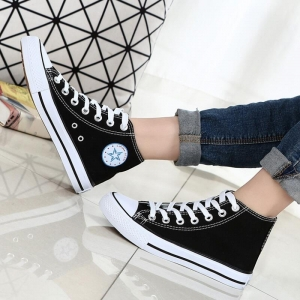 In-styles Star Pattern Designs Korean Couple Fashion Ankle Canvas Shoes