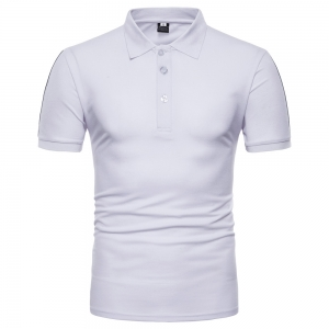 Europe Men's Casual Stitching Short-Sleeved POLO T-Shirt