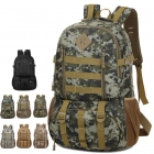 Unisex's 50L Waterproof Nylon Camouflage Design Travel Backpack