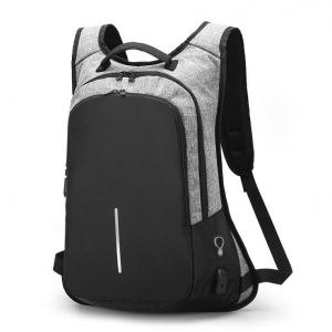 Unisex's Fashion USB Jack Password Lock Design Anti-Theft Computer Backpack
