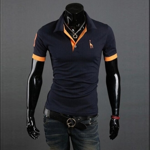 Men's Fashion Trendy Lapel Solid Color Short Sleeve POLO Shirt