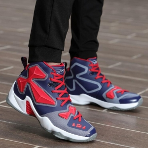 Couple's Fashion Breathable Heighten Warm Wear-Resistant Color Stitching Basketball Shoes