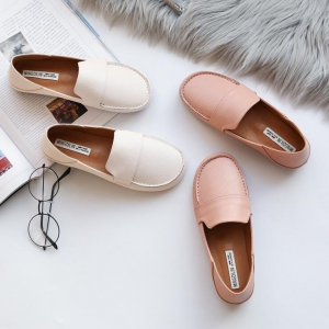 Korean Women's Fashion Simple Solid Color Round Head Wear Resistant Casual Shoes