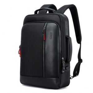 Men's Fashion Solid Color Trendy USB Charging Port Waterproof Anti-Theft Backpack