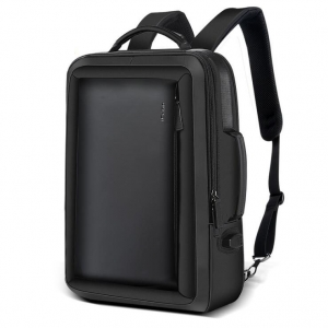 Men's Fashion Large Capacity USB Charging Port Design Solid Color Business Backpack