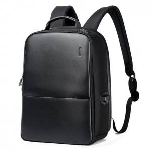Korean Men's Fashion Solid Color Trendy Logo Decoration USB Charging Port Anti-Theft Backpack