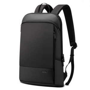 Korean Men's Fashion Solid Color Ultra Thin Trendy Logo Waterproof Backpack