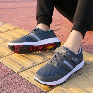 Unisex's Breathable Solid Color Velcro Tape Design Casual Sport Shoes