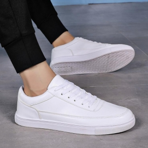 Men's Fashion Simple Solid Color Round Head Casual Breathable Wear-Resistant Business Shoes